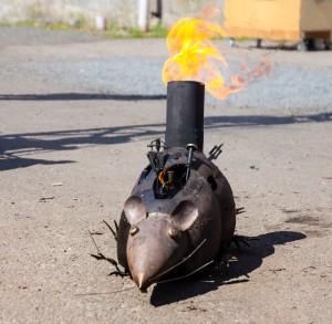 Steampunk - Feuerratte