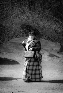 Steampunk - Frau mit Schirm